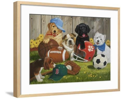 Let's Play Ball-William Vanderdasson-Framed Art Print