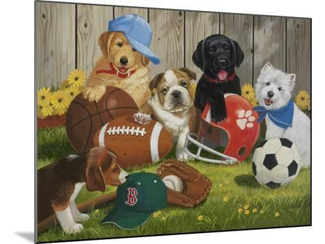 Let's Play Ball-William Vanderdasson-Mounted Giclee Print