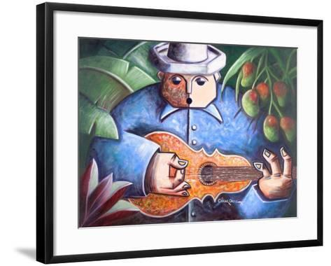 Musician-Oscar Ortiz-Framed Art Print