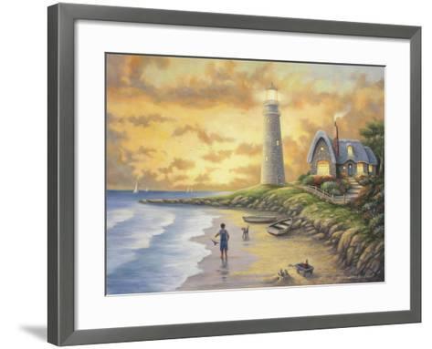 Lighthouse-John Zaccheo-Framed Art Print