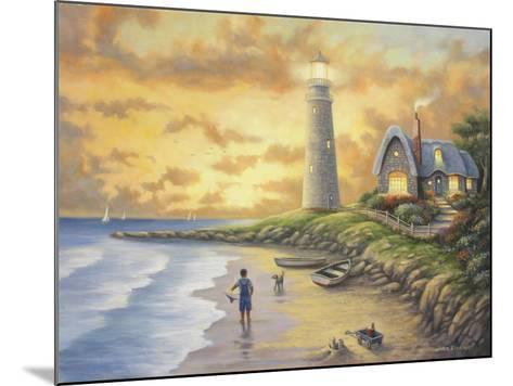 Lighthouse-John Zaccheo-Mounted Giclee Print