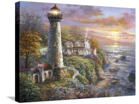 Lighthouse Haven-Nicky Boehme-Stretched Canvas Print
