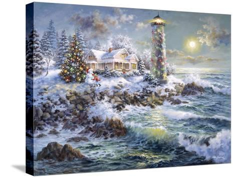 Lighthouse Merriment-Nicky Boehme-Stretched Canvas Print