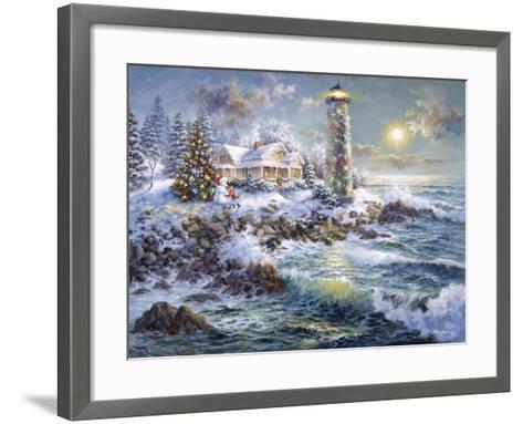 Lighthouse Merriment-Nicky Boehme-Framed Art Print
