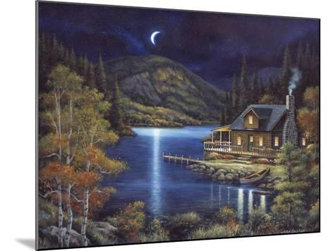 Moonlit Cabin-John Zaccheo-Mounted Giclee Print