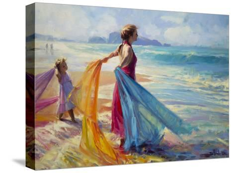 Into the Surf-Steve Henderson-Stretched Canvas Print