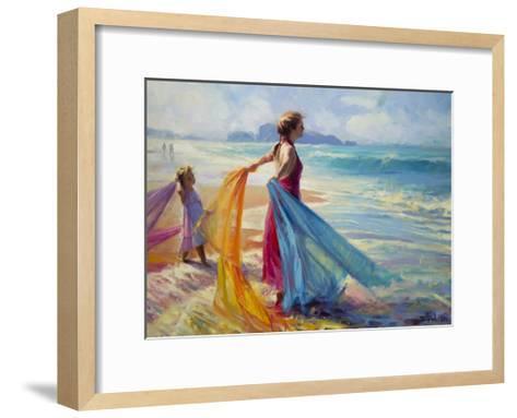 Into the Surf-Steve Henderson-Framed Art Print