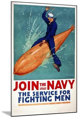Join the Navy, the Service for Fighting Men--Mounted Giclee Print