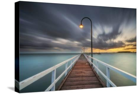 Lagoon Pier 2-Lincoln Harrison-Stretched Canvas Print