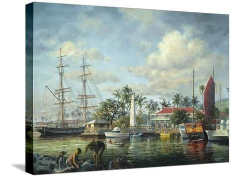 Lahaina Waterfront, Maui-Nicky Boehme-Stretched Canvas Print