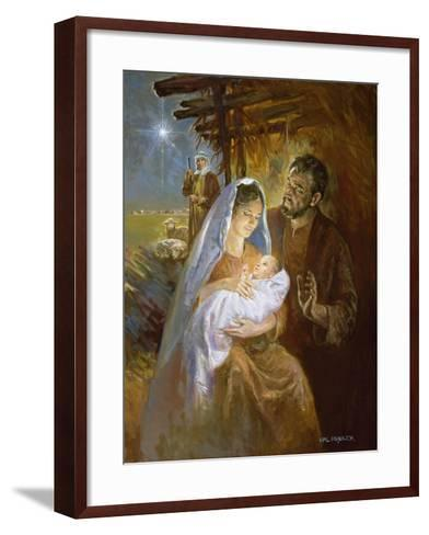Nativity-Hal Frenck-Framed Art Print