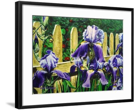 Iris' by the Fence-Bruce Dumas-Framed Art Print