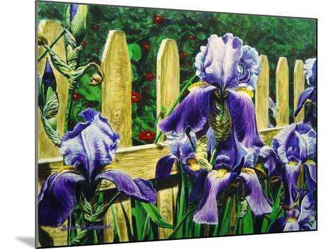 Iris' by the Fence-Bruce Dumas-Mounted Giclee Print