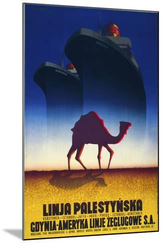 Linja Palestynska--Mounted Giclee Print