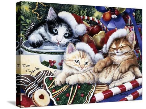 Meowy Christmas 2-Jenny Newland-Stretched Canvas Print