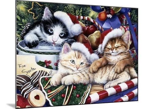 Meowy Christmas 2-Jenny Newland-Mounted Giclee Print