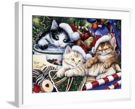 Meowy Christmas 2-Jenny Newland-Framed Art Print