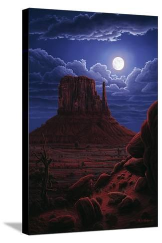 Navaho Moon-R.W. Hedge-Stretched Canvas Print