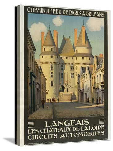 Langeais Les Chateaux De La Loire--Stretched Canvas Print