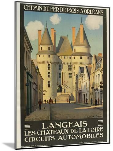 Langeais Les Chateaux De La Loire--Mounted Giclee Print