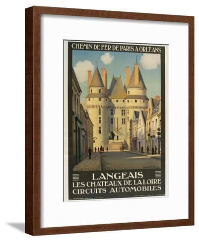 Langeais Les Chateaux De La Loire--Framed Art Print