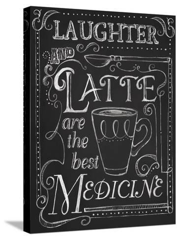 Laughter and Latte-Fiona Stokes-Gilbert-Stretched Canvas Print
