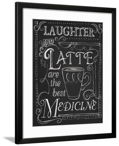 Laughter and Latte-Fiona Stokes-Gilbert-Framed Art Print