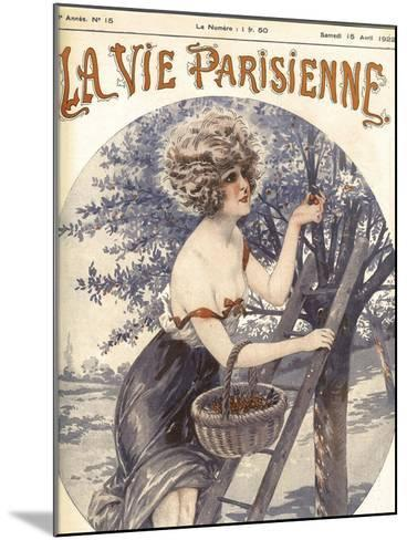 Lavie Parisenne Cherry Picking--Mounted Giclee Print