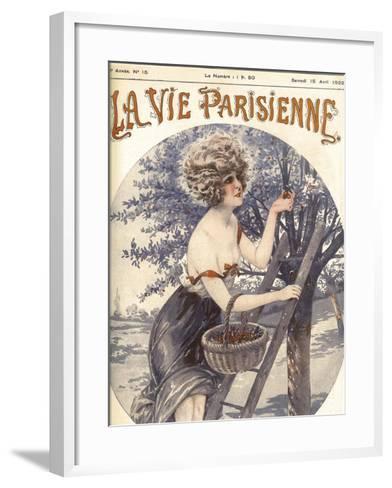 Lavie Parisenne Cherry Picking--Framed Art Print