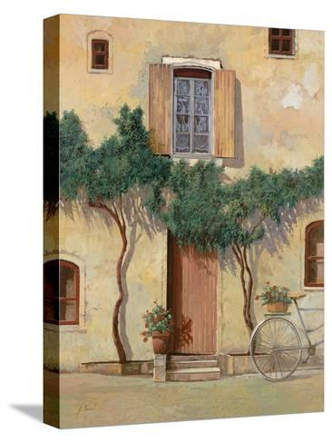 Mezza Bicicletta Sul Muro-Guido Borelli-Stretched Canvas Print
