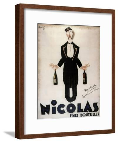 Nicolas Fines Bouteilles--Framed Art Print