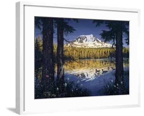 Mt Adams-Jeff Tift-Framed Art Print