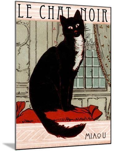 Le Chat Noir 1--Mounted Giclee Print