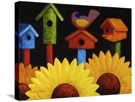 Midnight Garden-Oscar Ortiz-Stretched Canvas Print