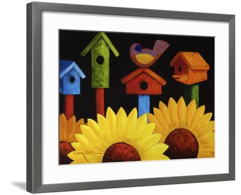 Midnight Garden-Oscar Ortiz-Framed Art Print