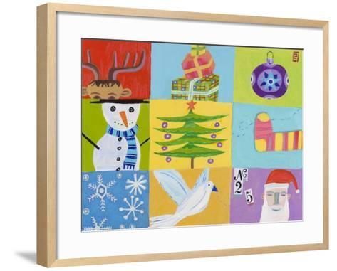 Nine Christmas Squares-Nathaniel Mather-Framed Art Print