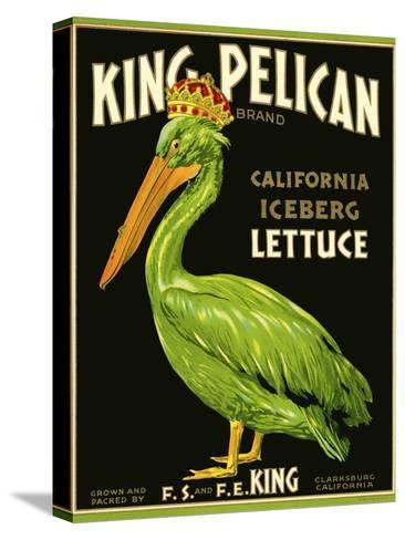 King Pelican Brand Lettuce--Stretched Canvas Print