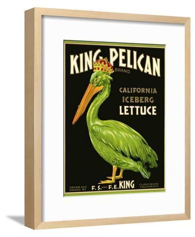 King Pelican Brand Lettuce--Framed Art Print