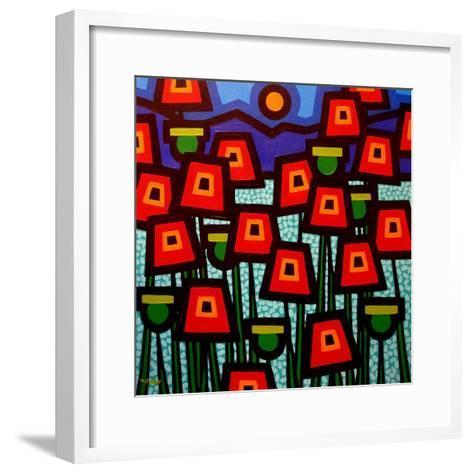 Poppy Field-John Nolan-Framed Art Print