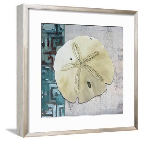 Sand Dollar 1-Megan Aroon Duncanson-Framed Art Print