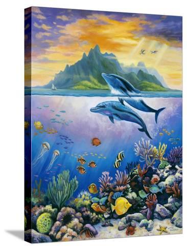 Paradise-John Zaccheo-Stretched Canvas Print