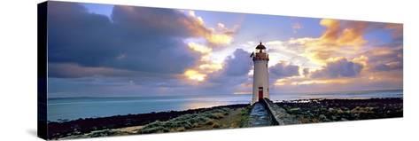 Port Fairy Lighthouse 3-Wayne Bradbury-Stretched Canvas Print