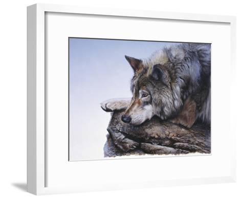 On the Edge-Rusty Frentner-Framed Art Print