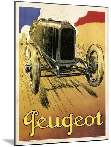 Peugeot Vint Car 1919--Mounted Giclee Print