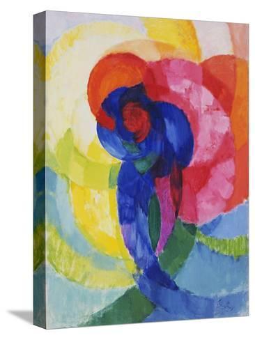 Red and Blue Disks-Frantisek Kupka-Stretched Canvas Print