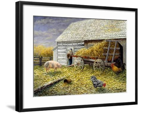 Pig and Chickens-Kevin Dodds-Framed Art Print