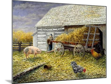 Pig and Chickens-Kevin Dodds-Mounted Giclee Print