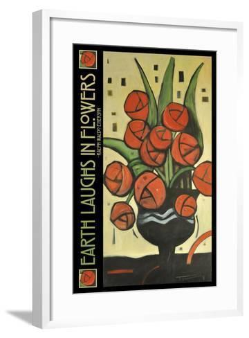 Roses in Vase Poster-Tim Nyberg-Framed Art Print