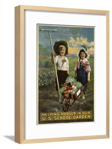 School Garden--Framed Art Print