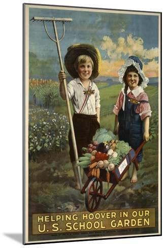 School Garden--Mounted Giclee Print